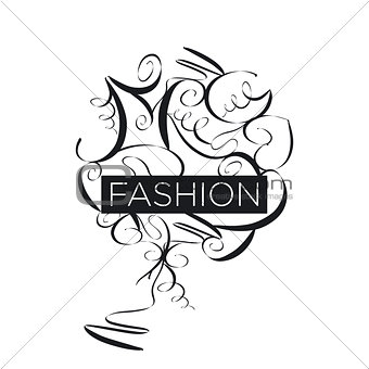 Abstract vector logo fashion patterns
