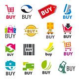 big set of vector logos buy