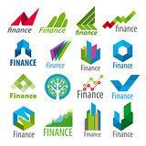 big set of vector logos Finance