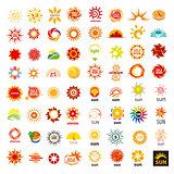 big set of vector logos sun