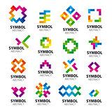 Big set vector logos modules