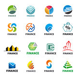 large collection of of vector logos Finance