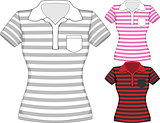 Vector womens short sleeve t-shirt design templates