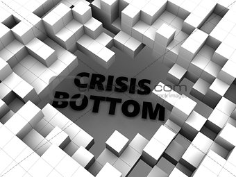 abstract cubes and crisis
