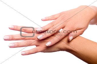 Fondling hands