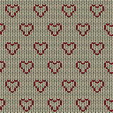 Fabric seamless background pattern with love heart