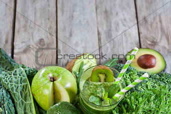 Green smoothie background