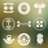 Cross Training and GYM logo white