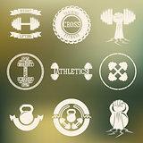 Cross Training and GYM logo white
