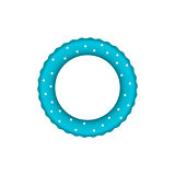 Blue pool ring with white dots