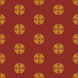 Japanese vector seamless pattern