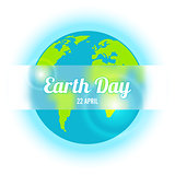 Earth Day in blue. Vector illustration.