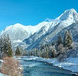 Winter mountain river (Austria,Tirol)