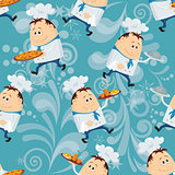 Cook, seamless pattern