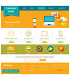 business website template flat design