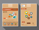 set of e-commerce magazine cover , flyer, brochure flat design t