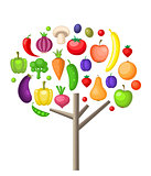 Fruits and vegetable tree