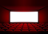 cinema screen in red audience