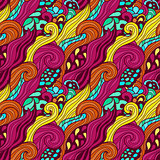 Seamless colorful abstract hand-drawn pattern