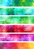 abstract geometric banner background, vector set