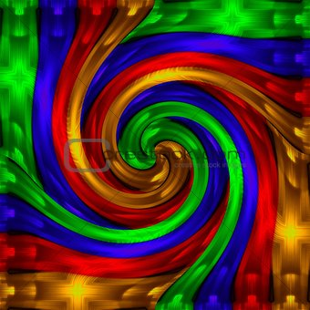 Abstraction decorative spiral