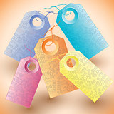 Set of the colorful tags.