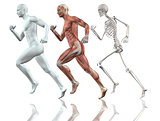 Male figure running