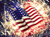 Sparkly American flag background