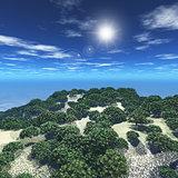 3D tree island