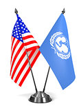 USA and UNICEF - Miniature Flags.