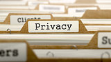 Privacy Concept with Word on Folder.
