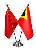 China and East Timor - Miniature Flags.