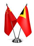 China and East Timor - Miniature Flags.