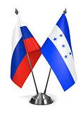Russia and Honduras - Miniature Flags.