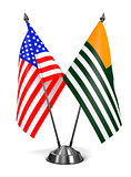 USA and Azad Kashmir - Miniature Flags.