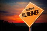 Alzheimer on Warning Road Sign.