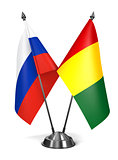 Russia and Guinea - Miniature Flags.
