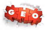Geo - Text on Red Puzzles.