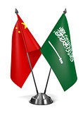 China and Saudi Arabia - Miniature Flags.