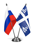 Russia and Martinique - Miniature Flags.