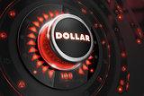 Dollar Regulator on Black Console.