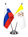 Russia and Vatican City - Miniature Flags.