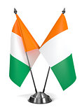 Ivory Coast - Miniature Flags.