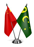 China and Cocos Keeling Islands - Miniature Flags.
