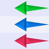 Infographics design arrows