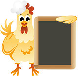 Cook chicken with slate board