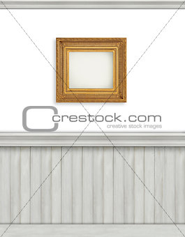 Blank backdrop with beadboard