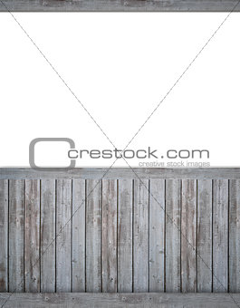 Blank backdrop with dark beadboard