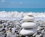 Stone zen-like balance