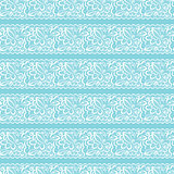 Vector seamless background. White lace on light blue